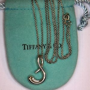 Tiffany & Co. Jewelry - Rare Initial Big Letter S Pendant Necklace 30""